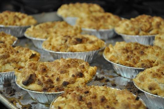 Apple Crumb Pies!