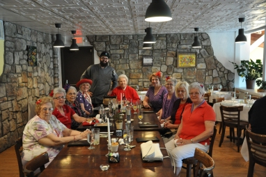 Red Hat ladies lunching with us!